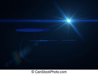 blaues licht, schwarzer hintergrund