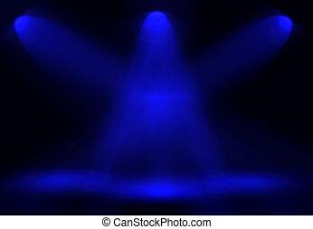 blaues licht, strahlen, hintergrund