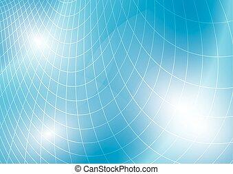 blaues licht, vektor, rasterhintergrund, gebogen
