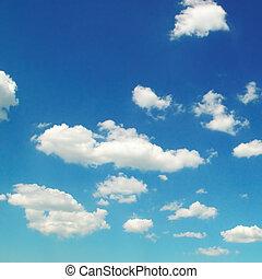 blaues licht, wolkenhimmel, sky.