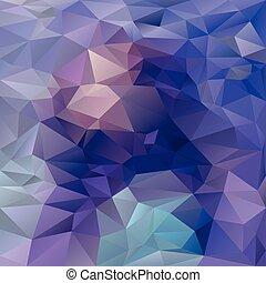 blaues, lila, muster, -, dreieckig, polygonal, farben,...