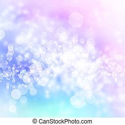 blaues, lila, rosa, abstrakt, bokeh, lichter, hintergrund