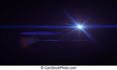 blaues, linsenleuchtsignal, licht