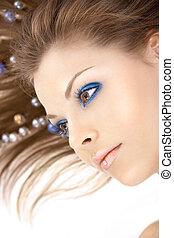 blaues, m�dchen, registrierung