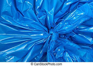 blaues, makro, plastiksack, hintergrund, beschaffenheit