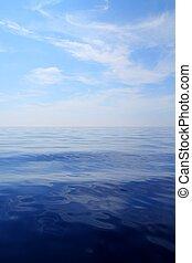 blaues, meer, himmelsgewölbe, ozeanwasser, gelassen,...