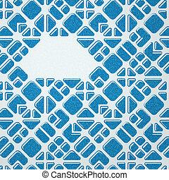 blaues, mosaik, hintergrund