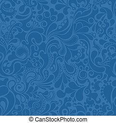 blaues, muster, abstrakt
