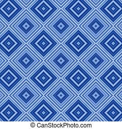 blaues, muster, abstrakt, diamant, hintergrund.