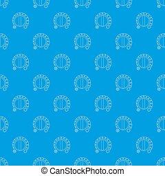 blaues, muster, seamless, regler, hitze, kalte
