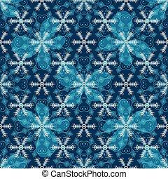 blaues, muster, seamless, weihnachten