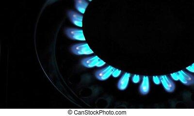blaues, natürlich,  gas, feuerflammen