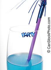 blaues, party, getränk