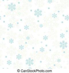 blaues, pastell, schneeflocken, muster, seamless, weihnachten