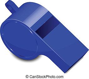 blaues, pfeifen, vektor, abbildung