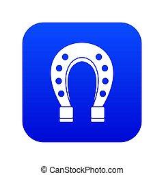blaues, pferd, ikone, schuh, digital