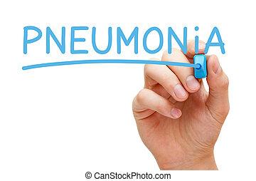 blaues, pneumonia, markierung
