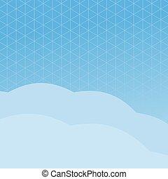 blaues, poligonal, hintergrund
