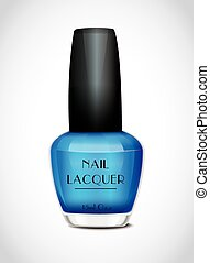 blaues, polnisch, nagel