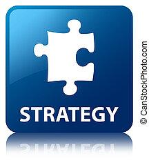 blaues, (puzzle, taste, strategie, quadrat, icon)
