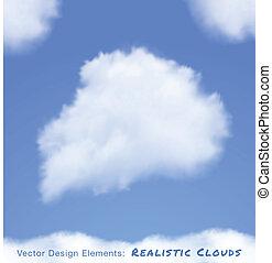 blaues, realistisch, himmelsgewölbe, wolkenhimmel