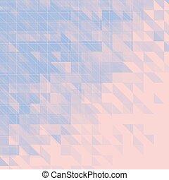 blaues, rosa, abstrakt, dreieckig, hintergrund., vektor