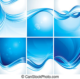 blaues, satz, hintergrund