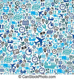 blaues, satz, muster, seamless, schiffahrt, hintergrund.,...