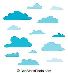 blaues, satz, wolkenhimmel