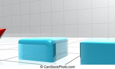 blaues, schaubild, erscheinen, g, bar