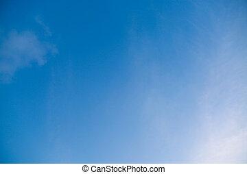 blaues, schließen, himmelsgewölbe, auf, wolke