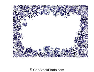 blaues, schneeflocken, hintergrund