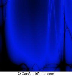 blaues, schreibtisch