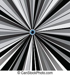 blaues, schwarz, weißes, auge, hintergrund