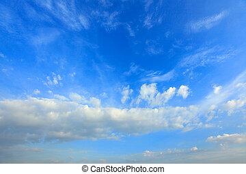 blaues, sky3, wolkenhimmel