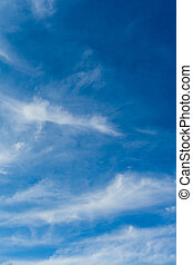 blaues, spindrift, cloud., clouds., day., himmelsgewölbe,...