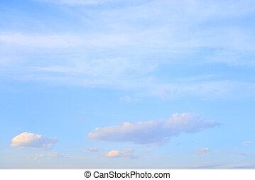 blaues, spindrift, himmelsgewölbe, clouds.