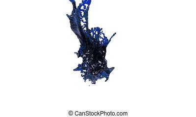 blaues, spritzen, oel, luft., flüssiglkeit