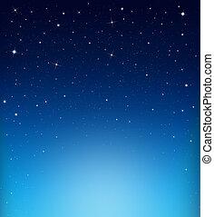 blaues, starry, abstrakt, hintergrund