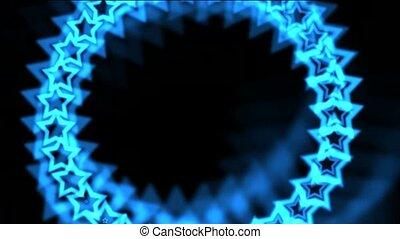 blaues, sternen, gemacht, von, aura?seamless, schleife