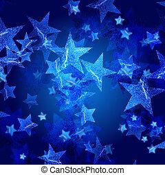 blaues, sternen