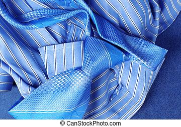 blaues, stil, mã¤nnerhemd, geschaeftswelt, klassisch, -, ...