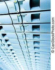 blaues, storage., server, abstracrt, hintergrund, scheibe