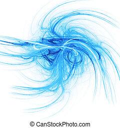 blaues, strahlen