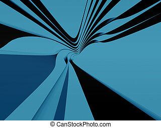 blaues, streifen, kurven