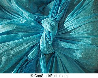 blaues, tasche, hintergrund, plastik, beschaffenheit
