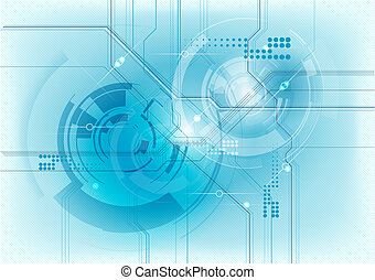 blaues, technologie