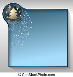 blaues, textfeld, für, irgendein, text, mit, weihnachten,...