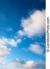 blaues, träumerisch, himmelsgewölbe