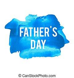 blaues, vaters, plakat, karte, gemalt, text, abbildung, feiertag, geschrieben, wörter, hintergrund, feier, tag, logo